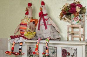 petuh_stile_tilda Мастер-класс по шитью петуха своими руками: бойцовский петух, петушок-рукавица, выкройки текстильных сувениров