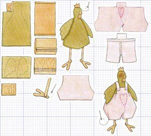 shablon_petuha_stile_tilda Мастер-класс по шитью петуха своими руками: бойцовский петух, петушок-рукавица, выкройки текстильных сувениров
