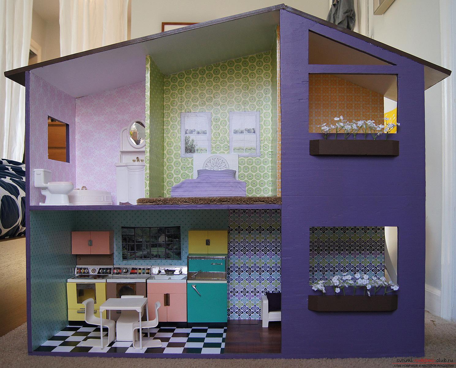 Дом из пенопласта своими руками для куклы