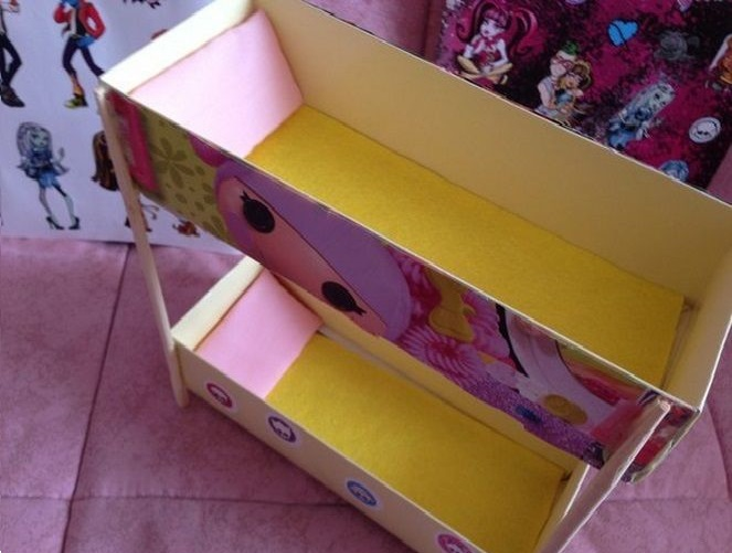 Как сделать кровать стол для кукол фото 281