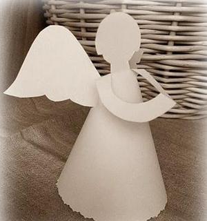 Бумажный ангел своими руками