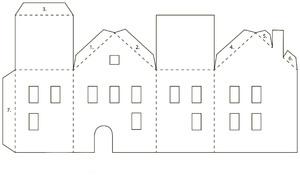 Чертеж домика из картона своими руками фото 264