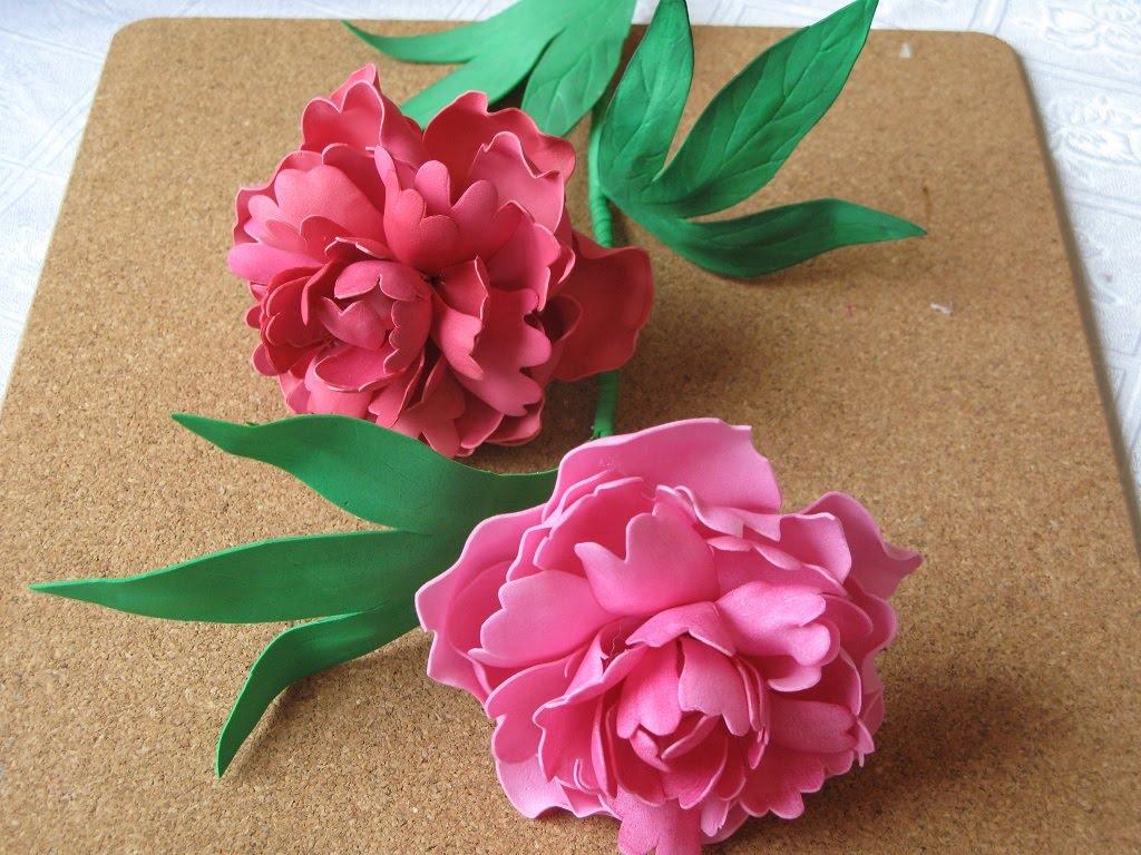 Как сделать выкройки цветов из фоамирана фото 930