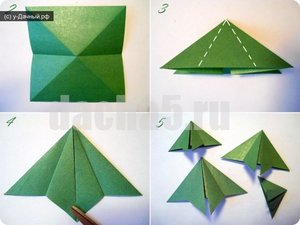 sozdanie_elki_tehnike_origami Елка оригами в схемах и фото-видео уроках