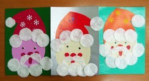 vatnye_diski_applikaciy Поделки из ватных дисков своими руками. Цветы из ватных дисков: подснежники, розы, ромашки, каллы. Топиарий из ватных дисков. Детские поделки из ватных дисков в детский сад, школу: фото