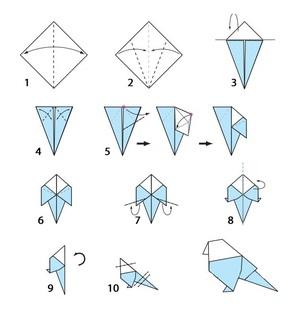 bumazhnaya_ptichka Как сделать птичку из бумаги своим руками: варианты поделок, схемы и необходимый материал