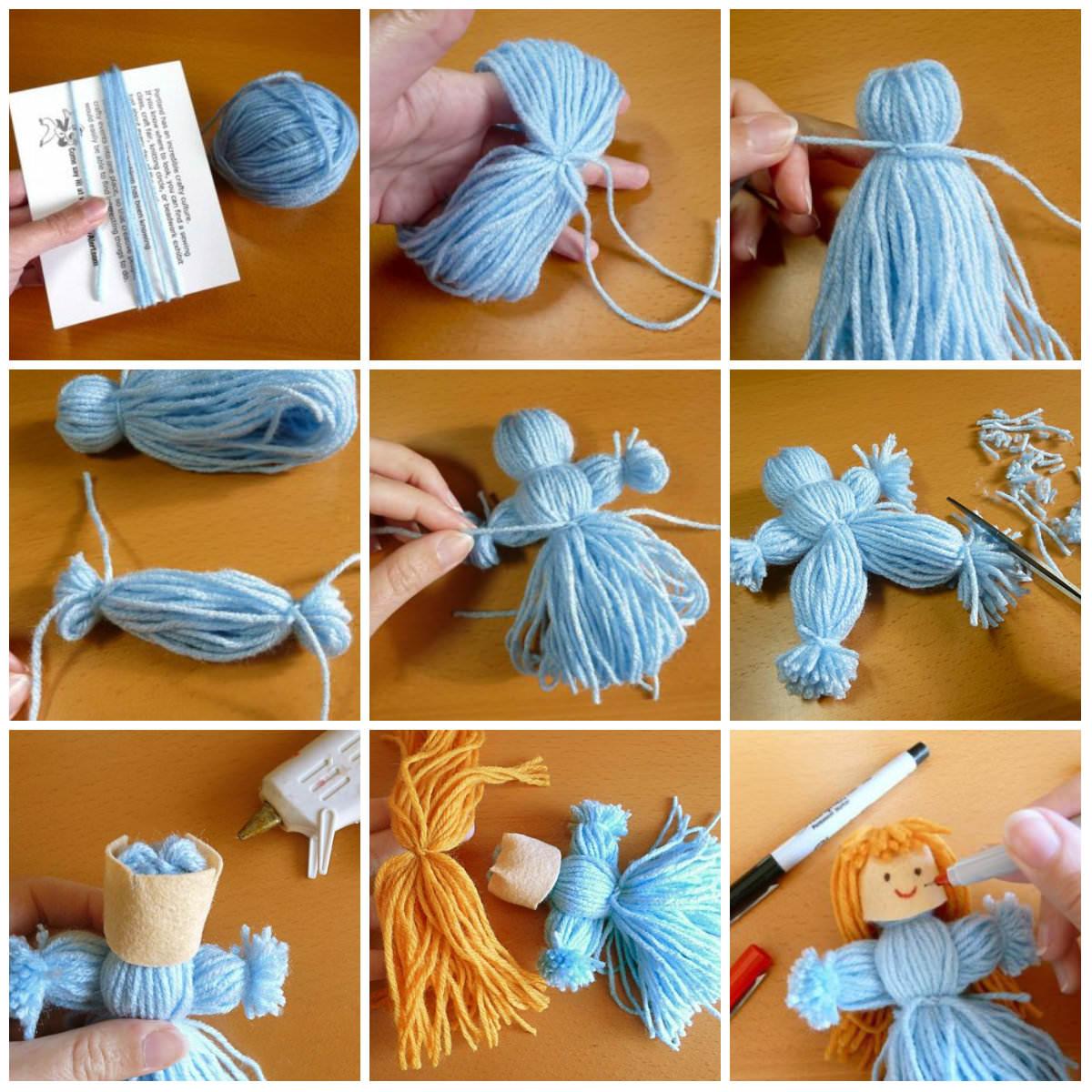 Как сделать куклу из мулине фото 65
