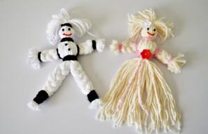 Куклы из ниток.