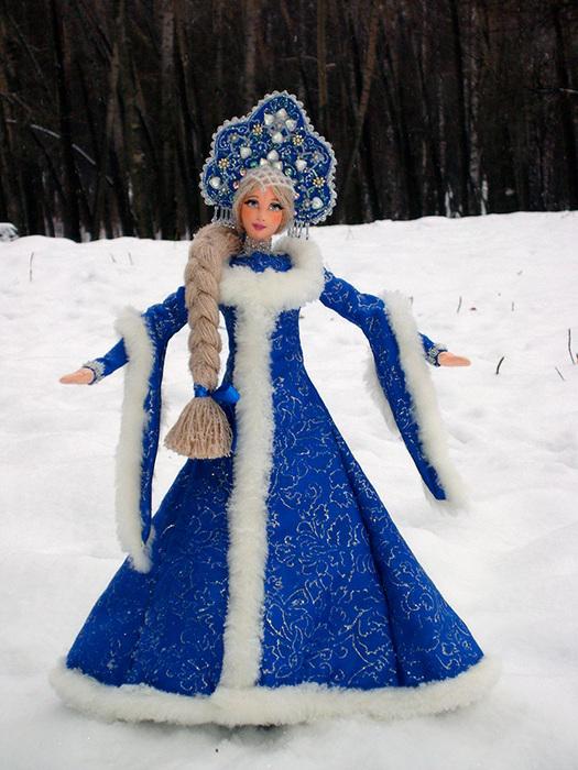 Как сделать снегурочку из куклы своими руками фото 348