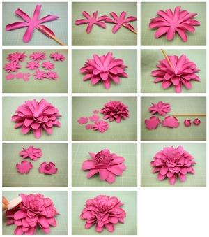 Как сделать цветок из дисков своими руками фото 343