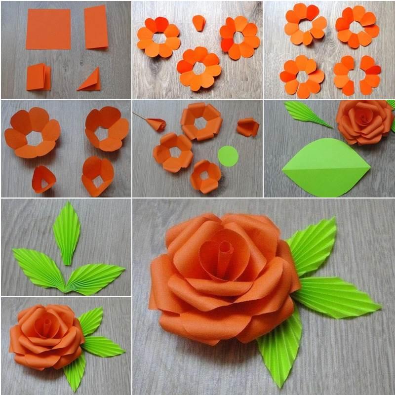 Как сделать объемную розу фото 943