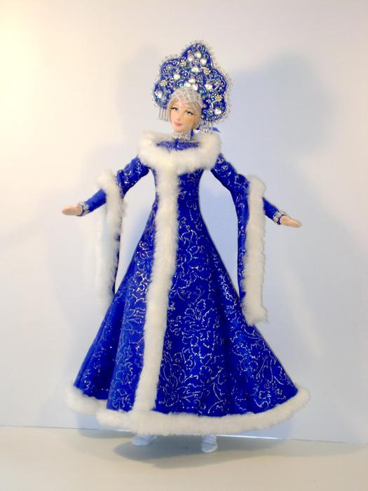 Как сделать снегурочку из куклы своими руками фото 813