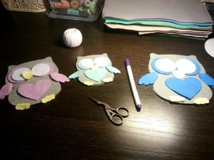 Детали для игрушки из фетра