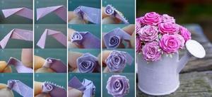 podelki_lent Цветы из лент своими руками: ТОП