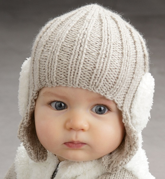вязаная шапка для девочки спицами пошагово варианты шапок с ушками
