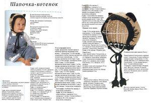 vyazanie_shapki_koshki Шапка для девочки спицами - пошаговая инструкция вязания с фото, как выбрать нити