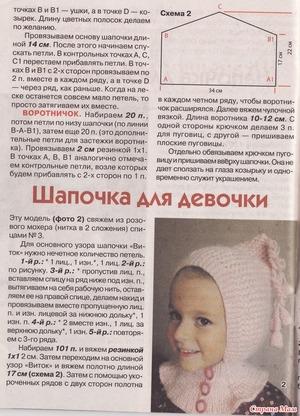 vyazannaya_shapochka_manishkoy Шапка для девочки спицами - пошаговая инструкция вязания с фото, как выбрать нити