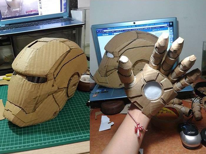 Как сделать костюм железного человека из бумаги фото 967