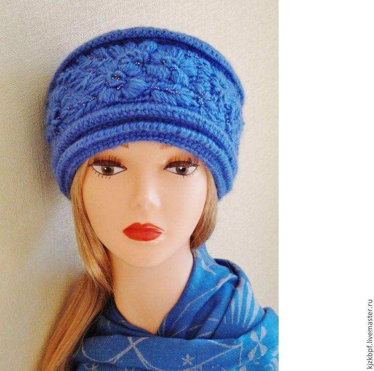 женские шапки спицами с описанием и схемами как связать шапку женщине