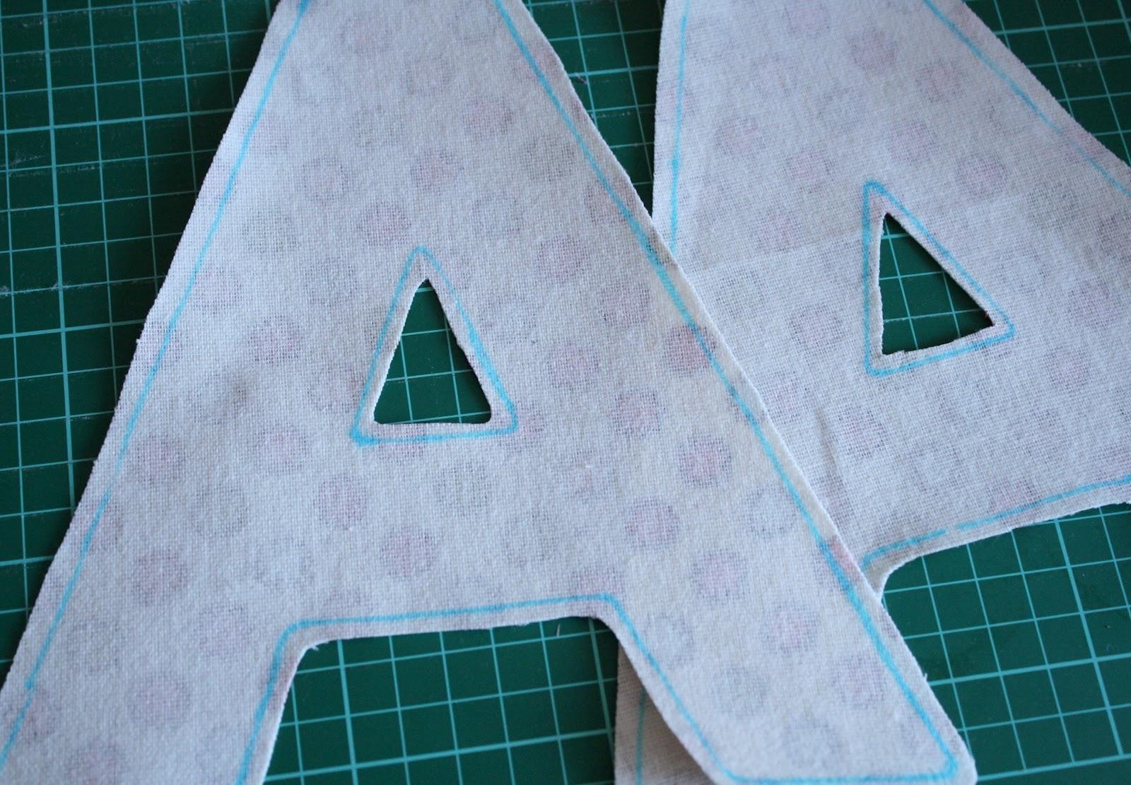 Как сшить буквы из ткани своими фото 834