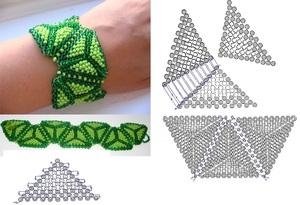 process_biseropleteniya Как сделать браслет из бисера для начинающих: схемы, пошаговые инструкции с фото и видео