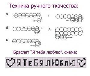 braslet_nadpisyu Как сделать браслет из бисера для начинающих: схемы, пошаговые инструкции с фото и видео