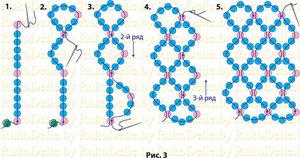 pletenie_setki_odnoy_leske Как сделать браслет из бисера для начинающих: схемы, пошаговые инструкции с фото и видео