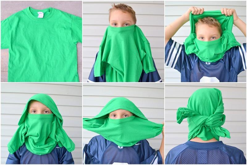 Как сделать маску из майки фото 446