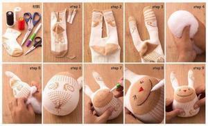 Как сделать зайца из носка