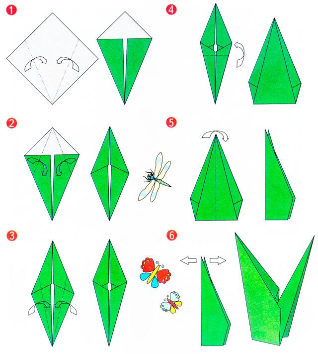 Цветы для открытки из бумаги своими руками оригами