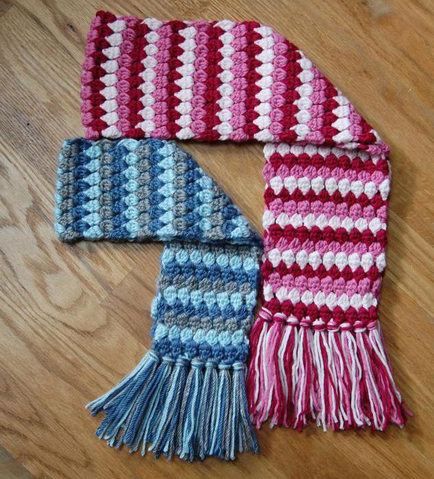 шарф для мальчика как связать стильный аксессуар шарфик крючком или