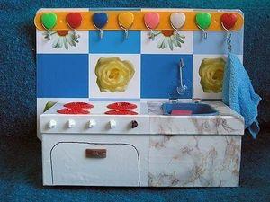 Кухня для кукол своими руками