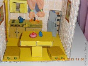 Кухня для кукол из картона