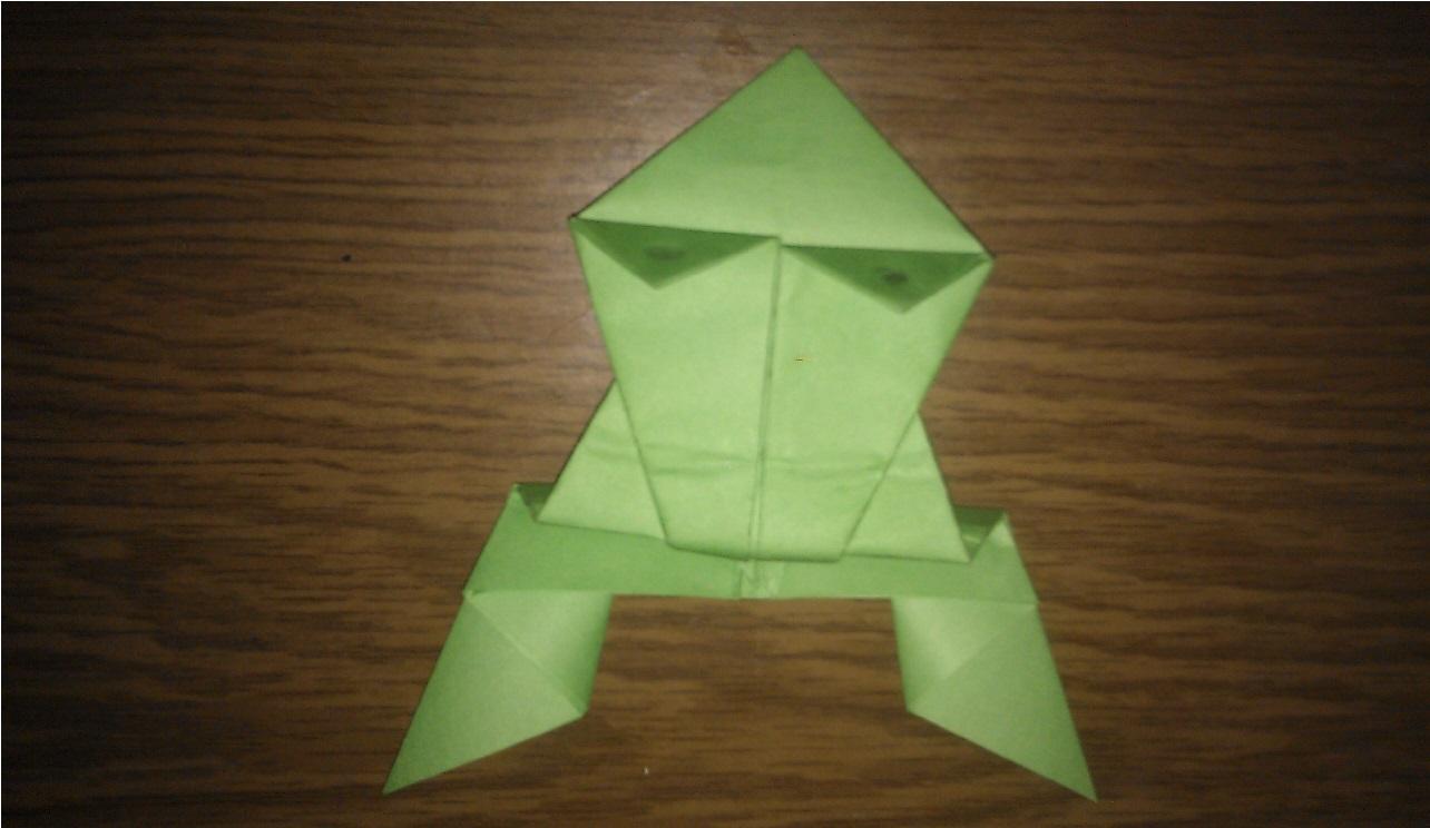 Как сделать оригами лягушку чтобы прыгала фото 379