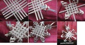 snezhinka_polosok_bumagi Оригами – объемные снежинки: схемы изготовления, шаблоны, фото. Как сделать объемную новогоднюю снежинку 3D из бумаги своими руками: пошаговая инструкция