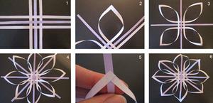 varianty_snezhinki_polosok Оригами – объемные снежинки: схемы изготовления, шаблоны, фото. Как сделать объемную новогоднюю снежинку 3D из бумаги своими руками: пошаговая инструкция