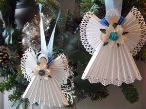podelka_svoimi_rukami Рождественские поделки: ангел своими руками из мешковины и картона,подарок на новый год
