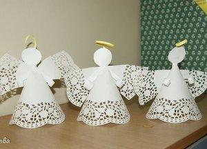 poshagovoe_izgotovlenie Рождественские поделки: ангел своими руками из мешковины и картона,подарок на новый год