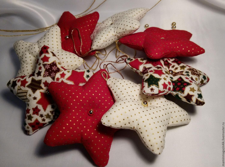Новогодние украшения из ткани своими руками фото 624