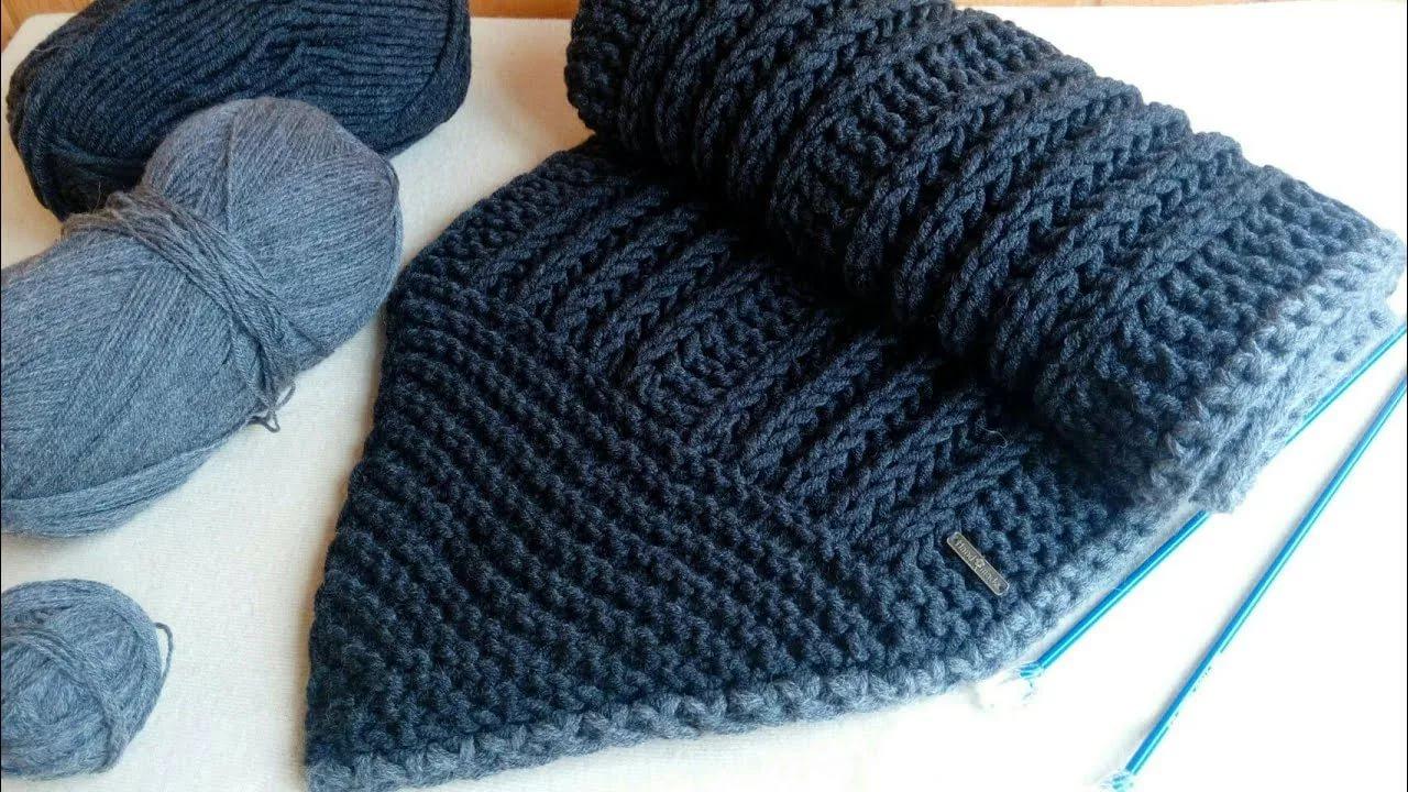 Схемы вязания спицами для мужского шарфа спицами