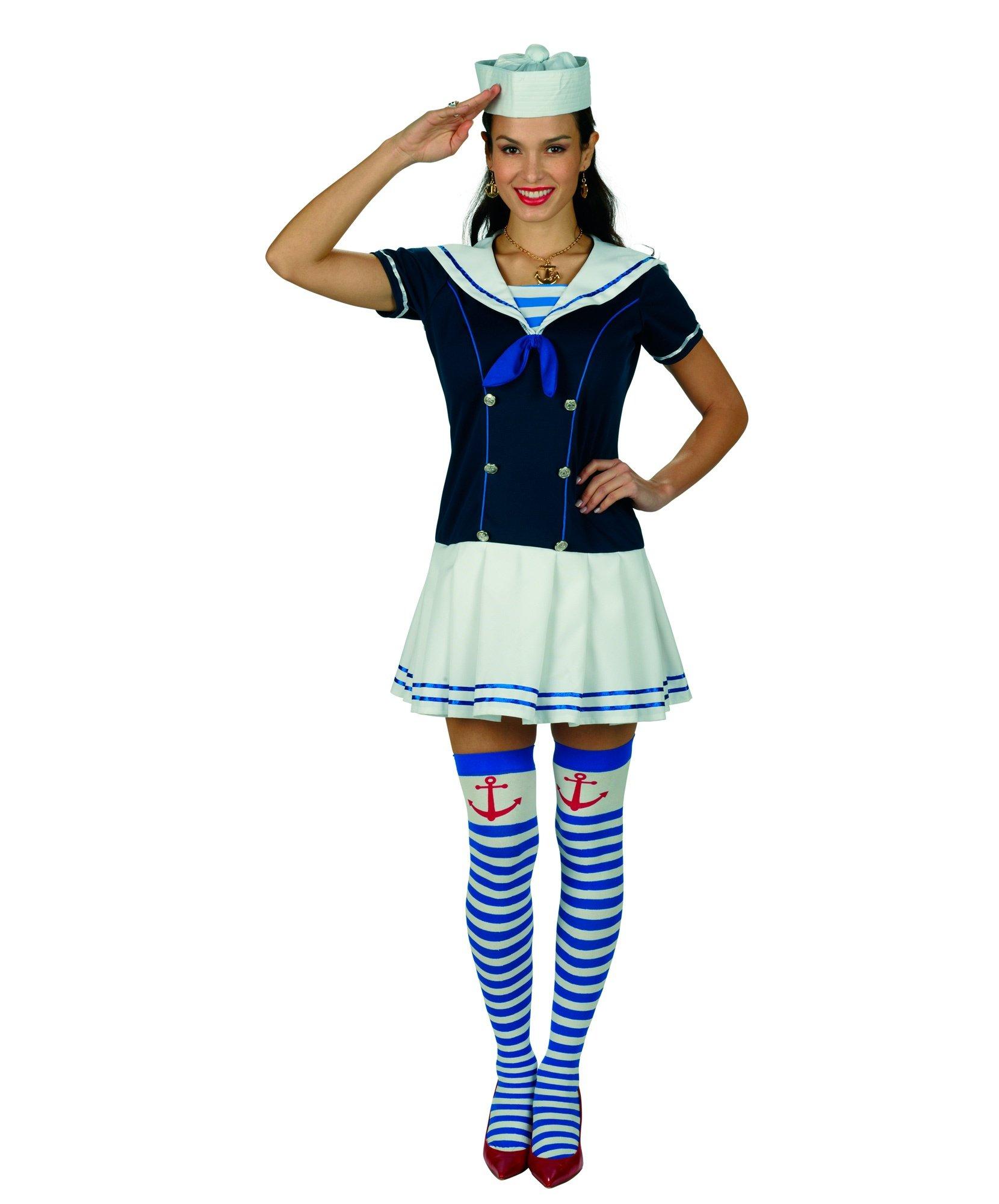 Девушка в костюме морячки