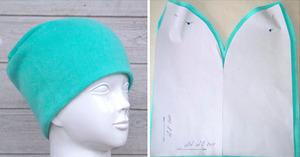 Выкройка трикотажной шапки с размерами