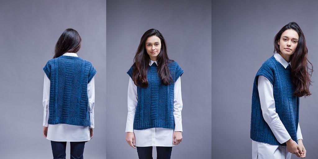 жилет спицами для женщин описание вязания красивой безрукавки