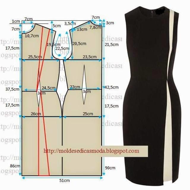 d8d787f29 Как раскроить платье-футляр для начинающих: пошаговый мастер-класс ...