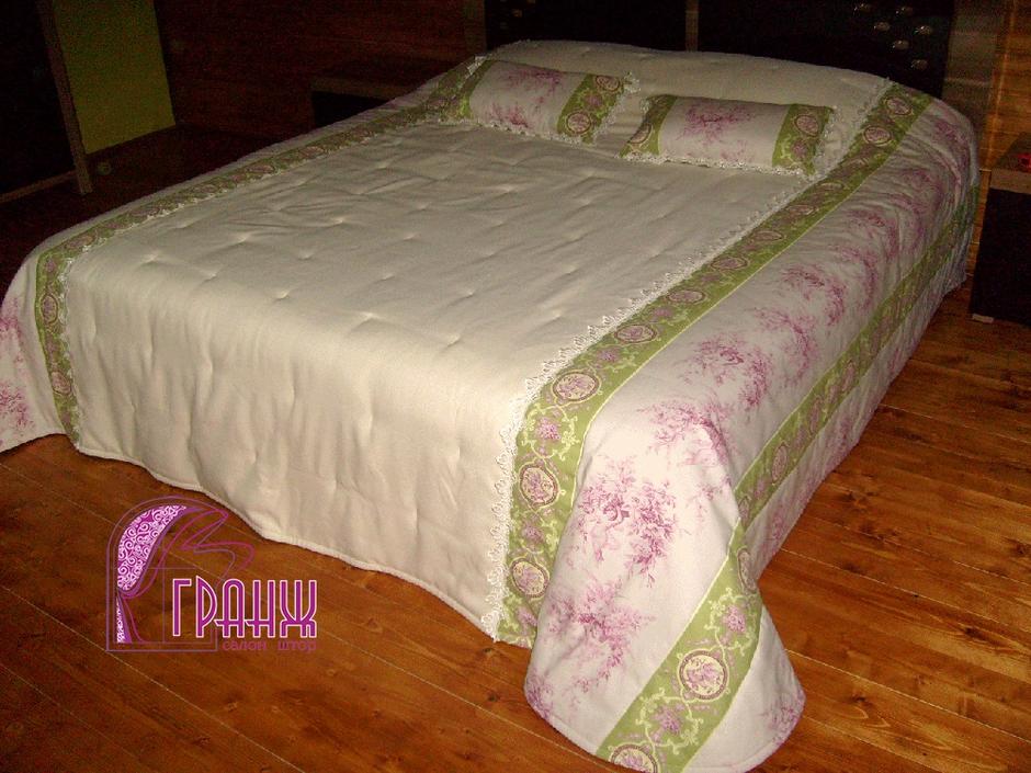 как сшить покрывало на кровать своими руками выкройка изделия с рюшем
