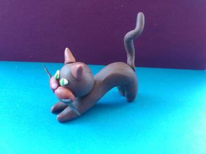 Лепка кошки из пластилина поэтапно