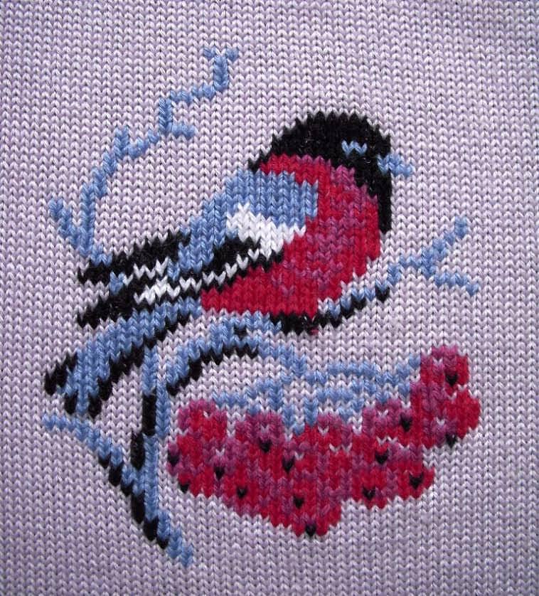 Как сделать вышивку на вязаном изделии | Мои рукодельки | 838x758
