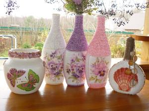Украшение вазы