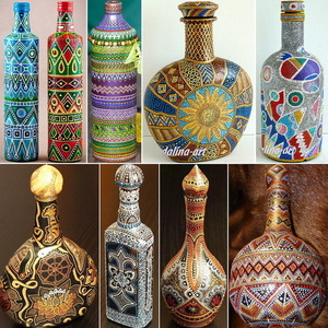 tochechnaya_rospis_butylki Мастер класс по росписи бутылки