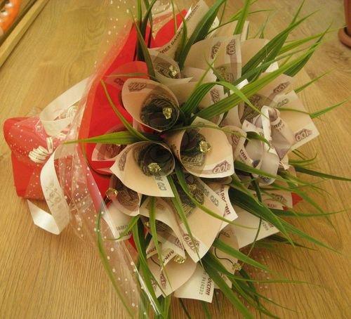 Цветы из купюр своими руками мастер класс фото 883